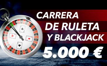Sportium casino Carrera de Ruleta y Blackjack 5.000€