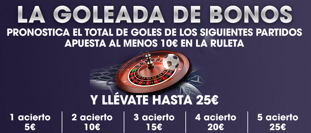 Goleada de Bonos Williamhill